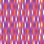 Abstract Garden Picket Fences Fuschia 226 25cm cuts WOF