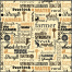 quilting fabric brown text
