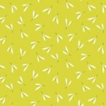 Zentastic sprigs on a greeny yellow 25cm cut WOF