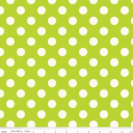 Le Creme Medium Dot on Lime 25cm cut WOF