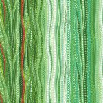 Dreamscapes Digital Green, ombre style wavy lines, 25cm cut WOF
