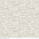 Gingham Gardens Text Cream, 25cm cut WOF