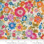 Lulu Flower Garden Linen, 25cm cut WOF