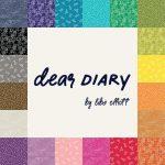 Dear Diary by Libs Elliott, 25cm cut WOF