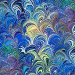 Poured Colour Cosette Blue/Multi, 25cm cut WOF