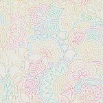 Art Theory, Rainbow Stitched on white, Day, 25cm cut WOF