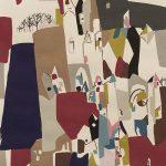 A Ghastlie Abstract, Deep Claret, 25cm cut WOF