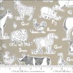 Animal Farm in Khaki, 25cm cut WOF