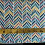 Chevron Stripe in red, green, blue, yellow and black, 25cm cut WOF