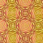 Marks Geometric in Saffron, 25cm cut WOF
