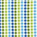 Remix Striped spot in green and blue, 25cm cut WOF