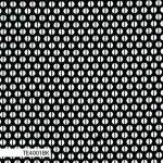 Ella's basics, white hemispheres on black, 25cm cut WOF