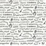 Garden text, Black on off white, 25cm cut WOF