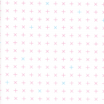 Modern Background Colorbox, pink and blue crosses, 25cm cut WOF