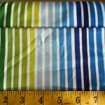 Remix, Blue and Green stripes, 25cm cut WOF