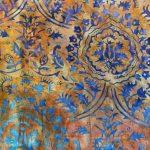 Garden Gate Orange, batik, 25cm cut WOF
