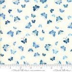 Lazy Days Blue Butterflies, 25cm cut WOF