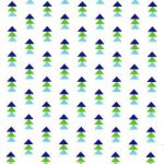 Pow Wow Wow! stack triangles Green and Blue, 25cm cut WOF