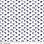 In the Meadow Honey Bee Fabric, Navy Bees on White, 25cm cut WOF