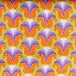 Chloe Purple/Orange - 60's Scrapbag, 25cm cut WOF