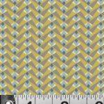 Gatsby, Brown and yellow geometric stripe, 25cm cut WOF