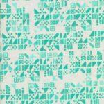 Clover Tiny Tiles Aqua, 25cm cut WOF