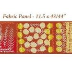 Marks, orange, yellow and red panel, price per panel