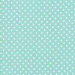 Little Snippets, White Dot on Aqua, 25cm cut WOF