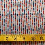 One for The Boys, Orange Grey Red and Blue Stripe on Grey, 25cm cut WOF
