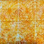Garden Party, Gazebo, Mango, Batik 25cm cut WOF