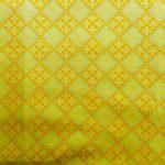 Bright Yellow Geometric Design, 25cm cut WOF